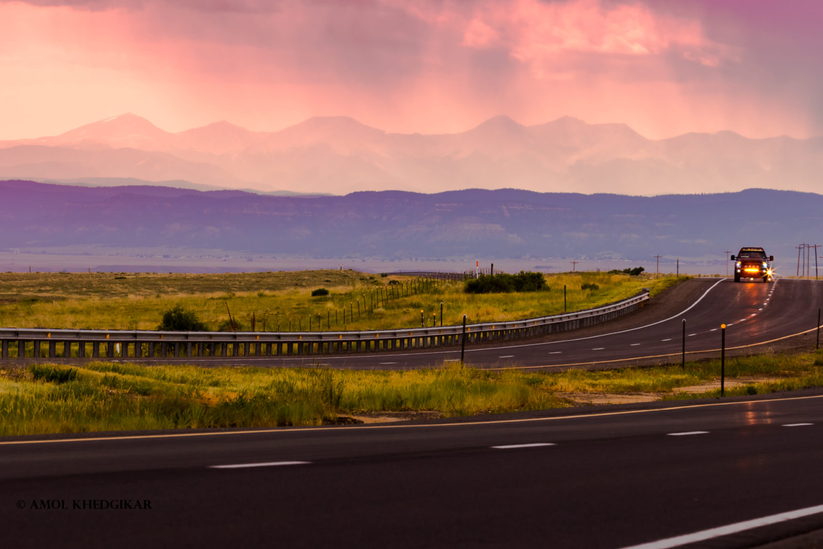 A road to the Rockies