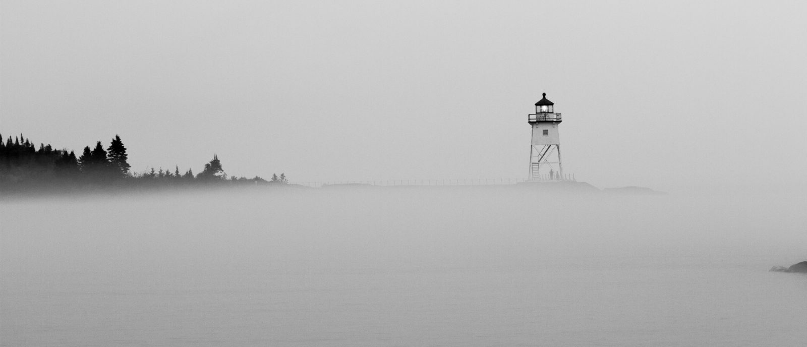 Misty Lighthouse