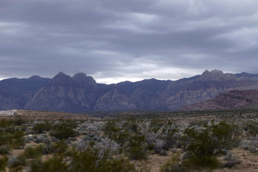 Red Rock on a rainy day
