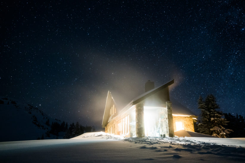Fowler-Hilliard Hut at Night