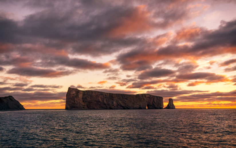 Perce Rock at sunrise