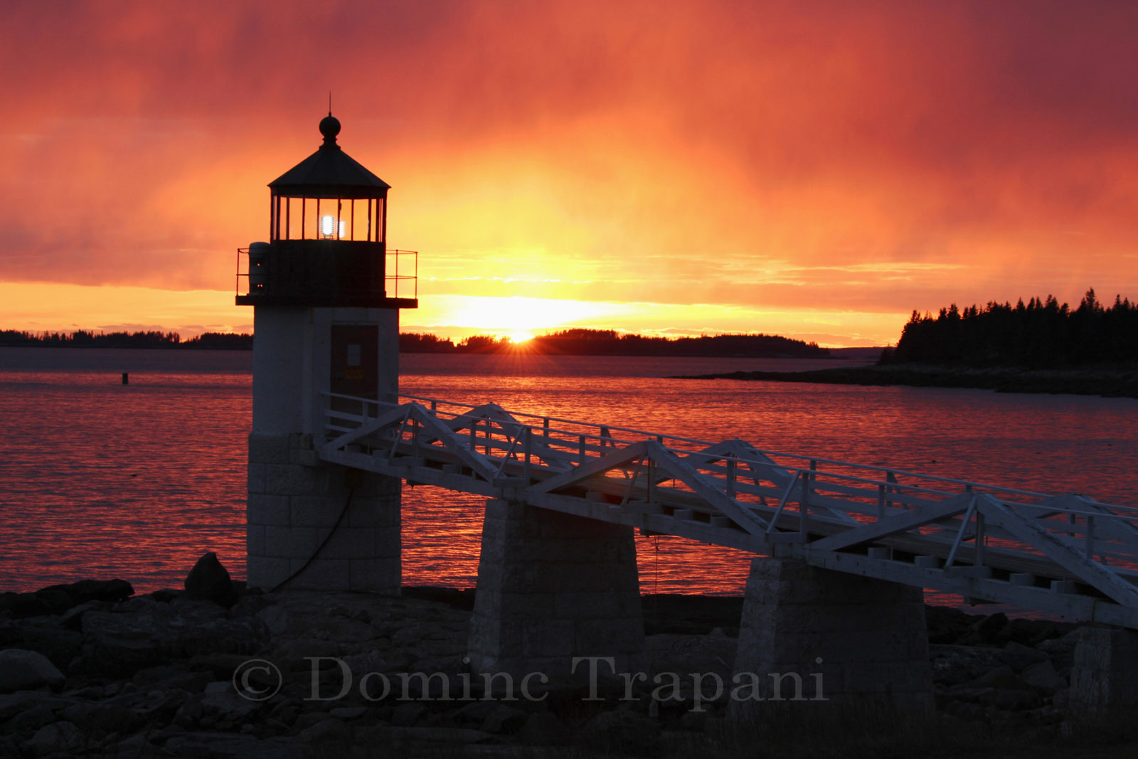 Sunset at Marshall Point Lighthouse