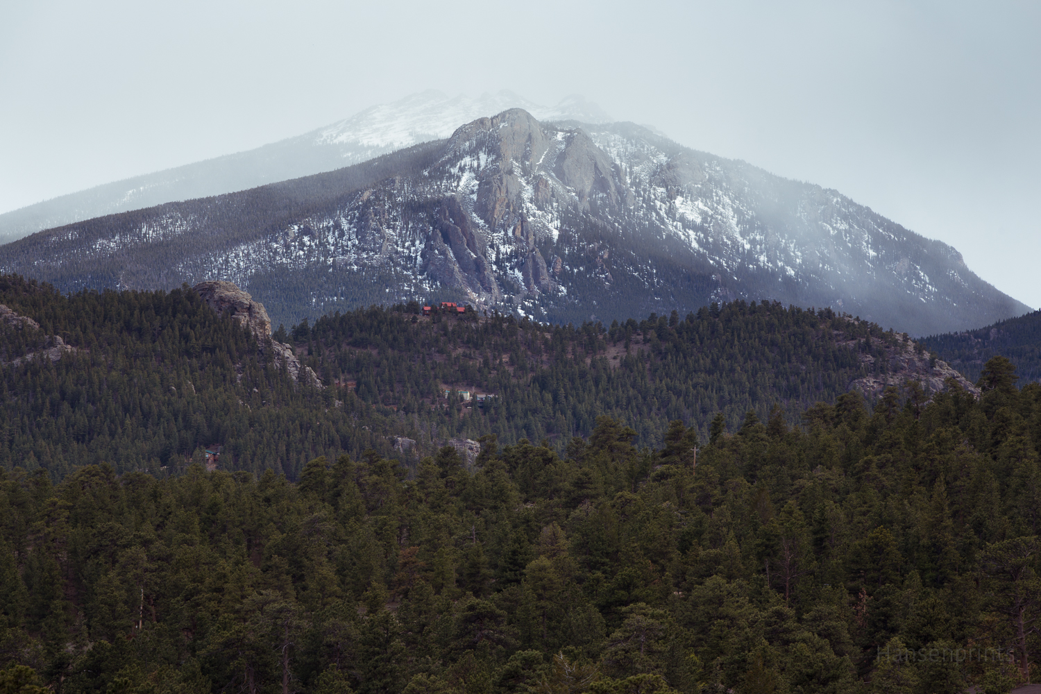 A Rocky Mountain in April