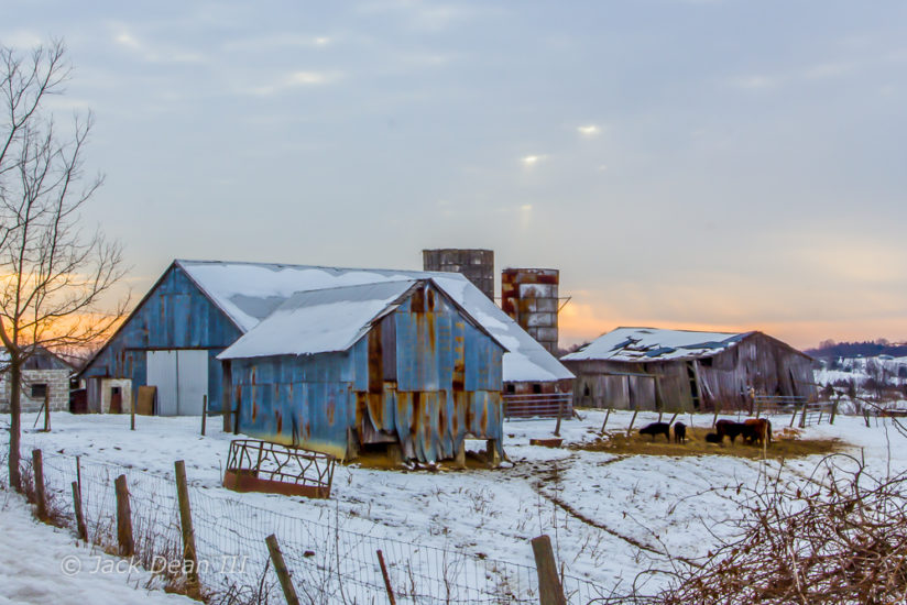 Winter Sunrise On The Farm