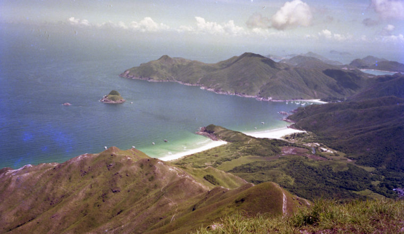 View of Big Wave Bay on the way to Sharp Peak