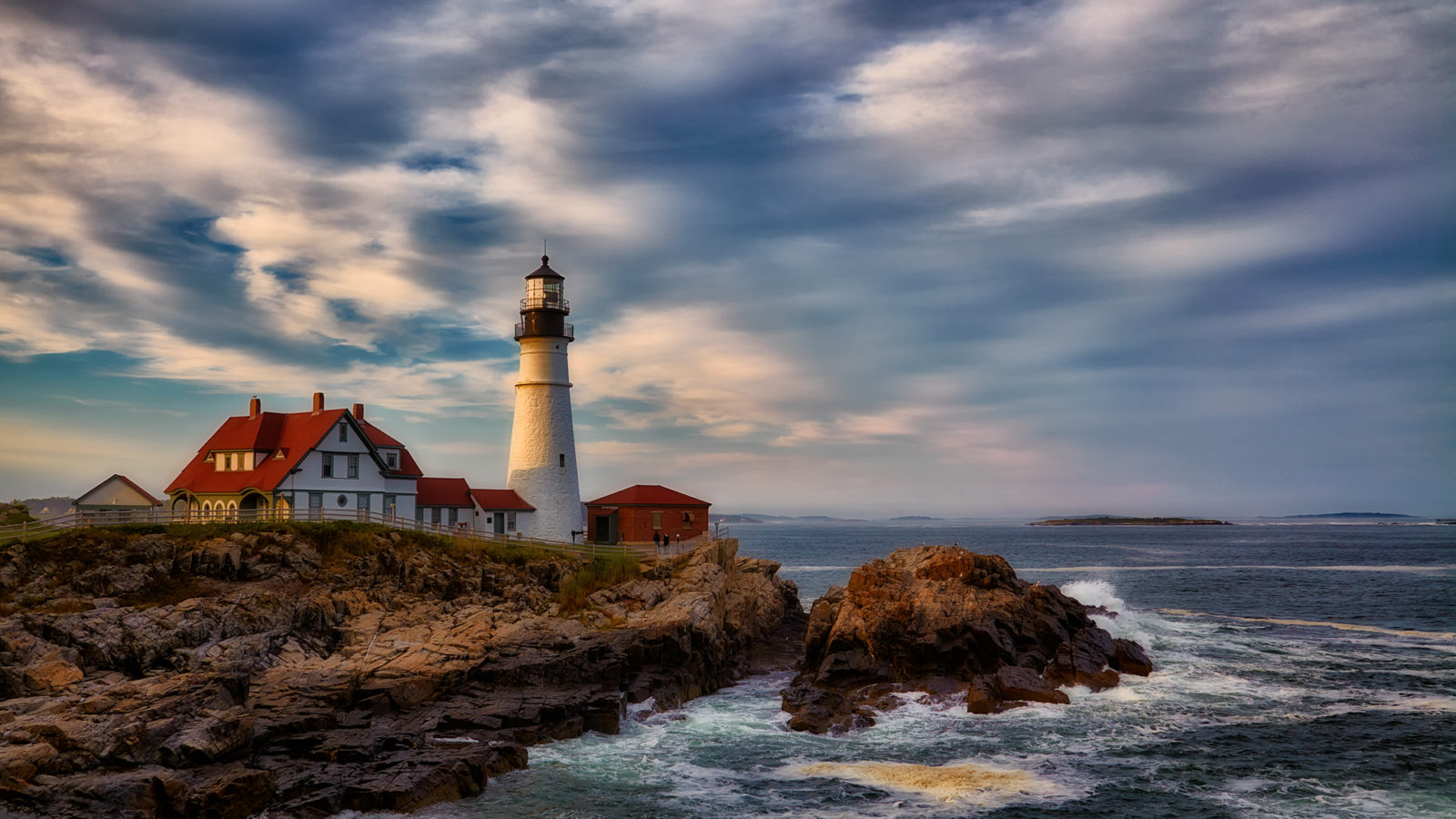 Sunset, Portland Head Light, Maine