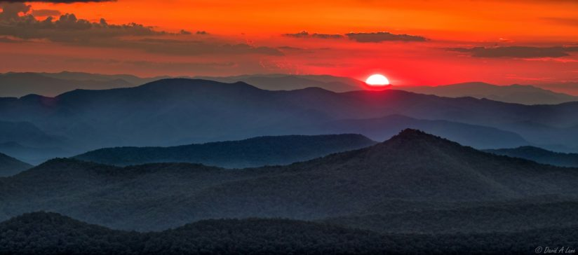 Sunset over Pisgah mountains