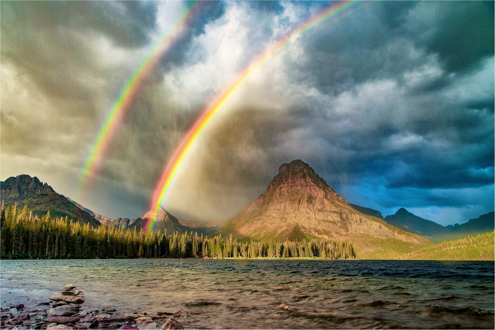 Double Rainbow at Two Medicine Lake