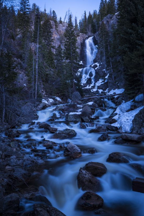 The spring meltdown at Fish Creek Falls.
