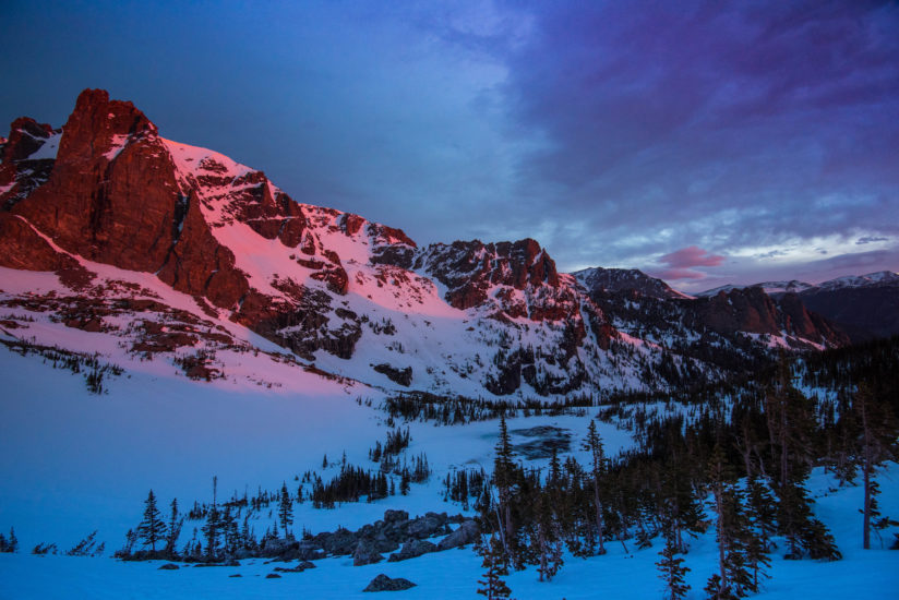First light on a spring morning in Rocky Mountain National Park