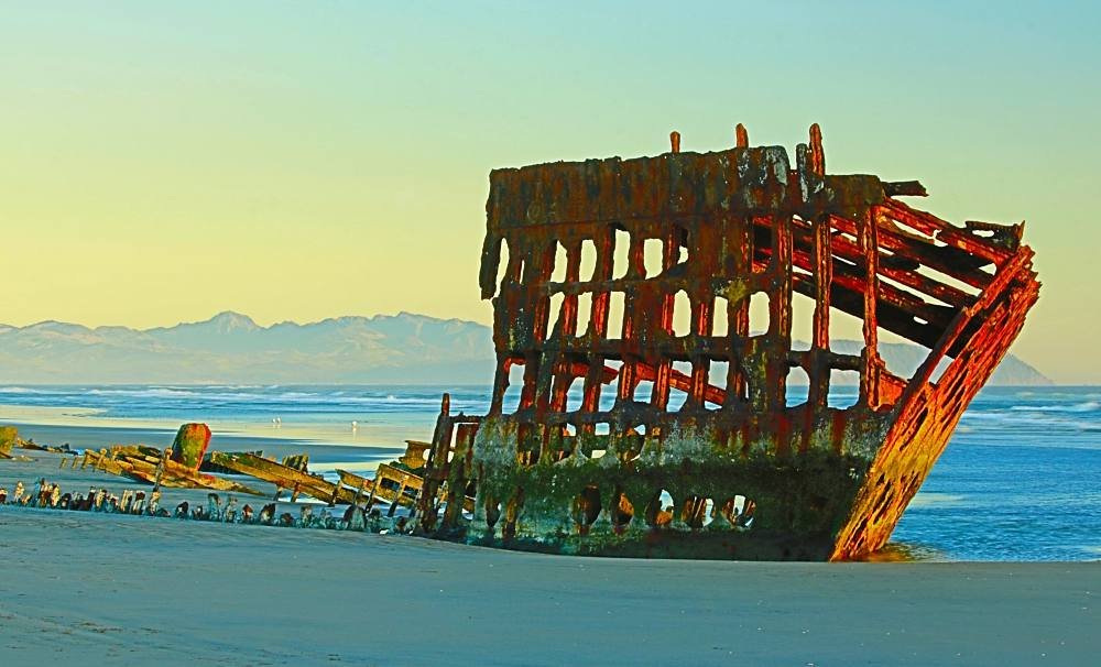 The Peter Iredale Shipwreck