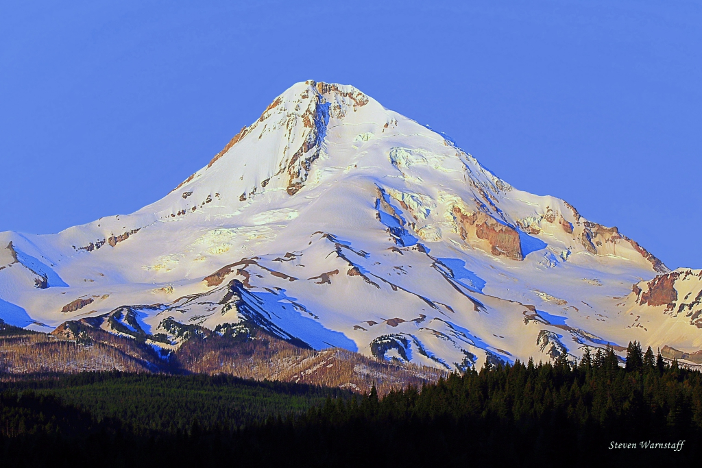Mt. Hood Minutes After Sunrise
