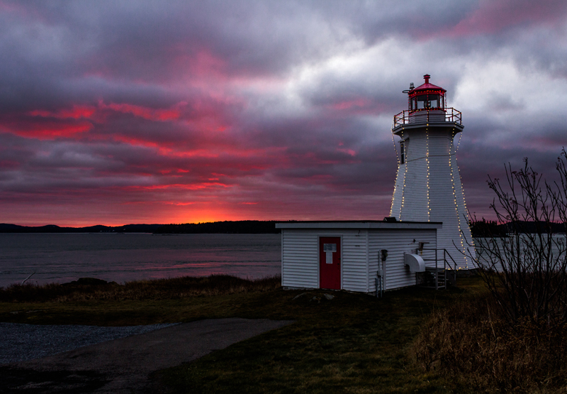 Greens Point lighthouse at sunset
