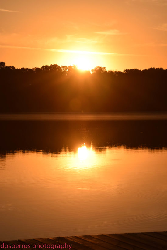 Sunrise over Rice Lake
