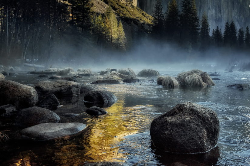 Merced River Morning Mist