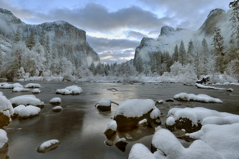 Winter Sunrise, Yosemite