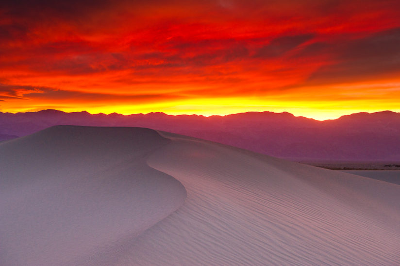 Red sky Death Valley