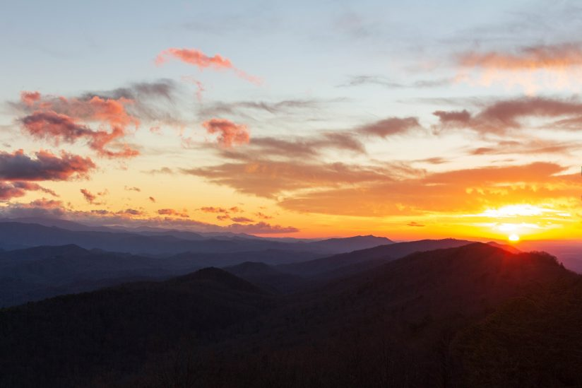Sunset from Bluff Mountain