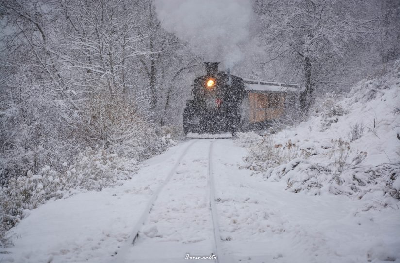 Snowy Old West train ride.