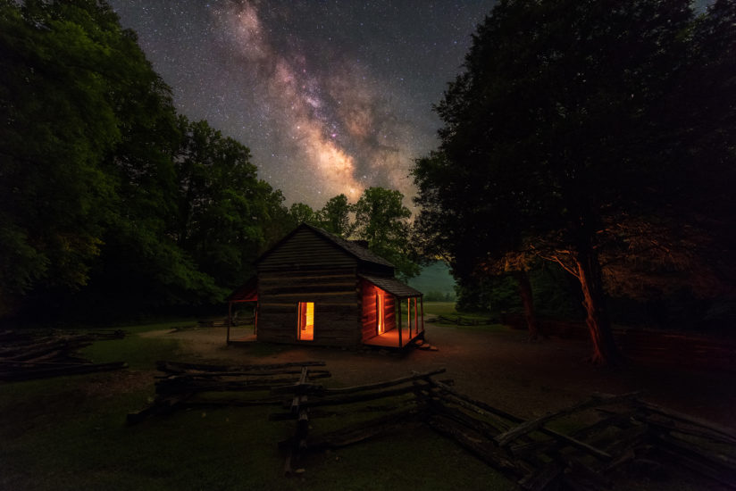 Summer Night at John Oliver's Cabin