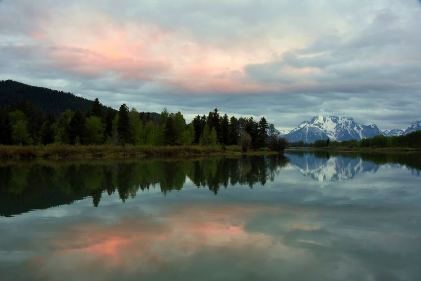 Sunrise colors at Oxbow Bend