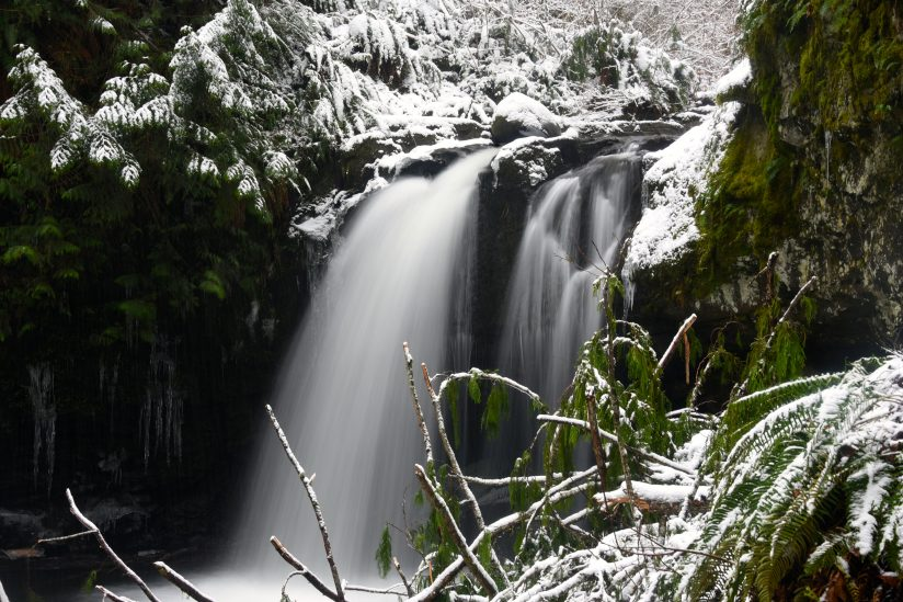 Stalking Creek Falls in Winter.