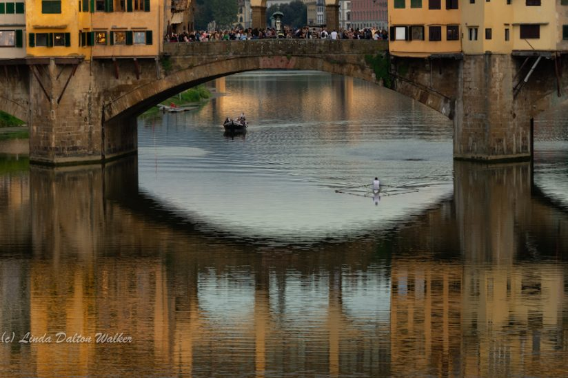 Arno River Reflection