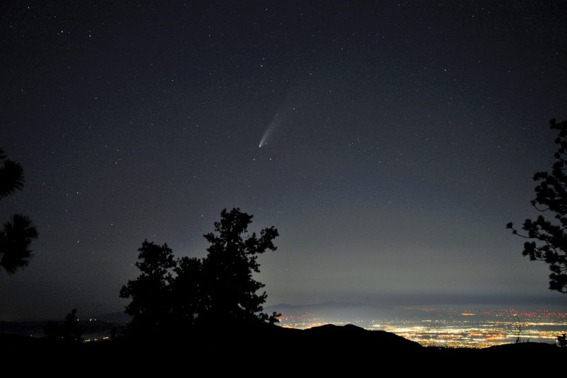 Comet Neowise over Palmdale, CA