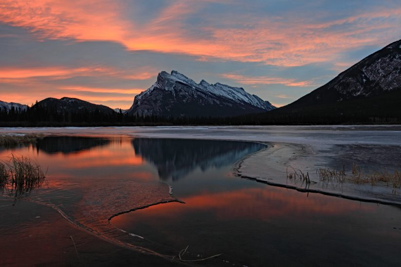 Sunrise from Vermillion Lakes