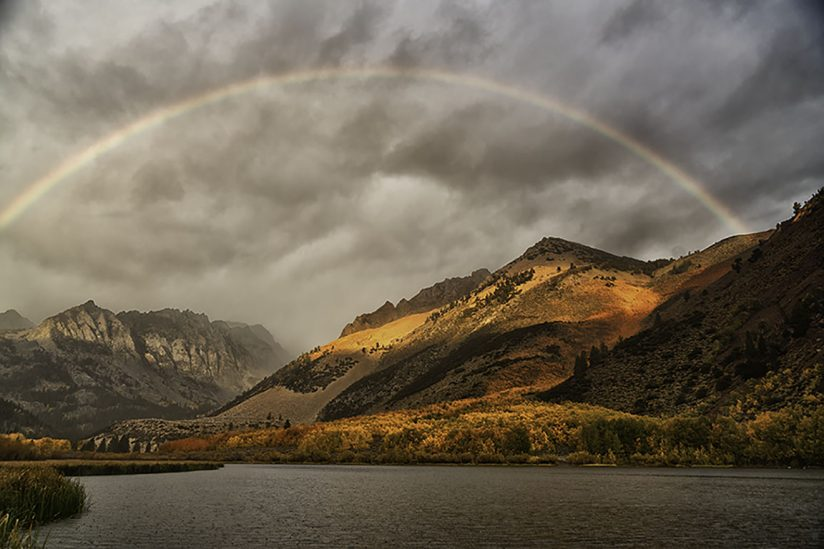 Rainbow over North Lake