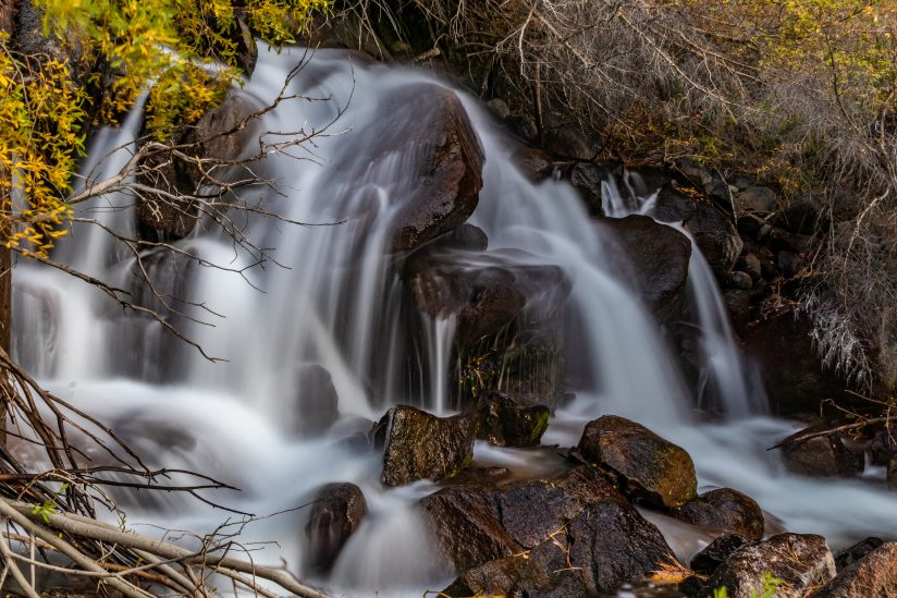 Cascading Falls at Big Pine Creek