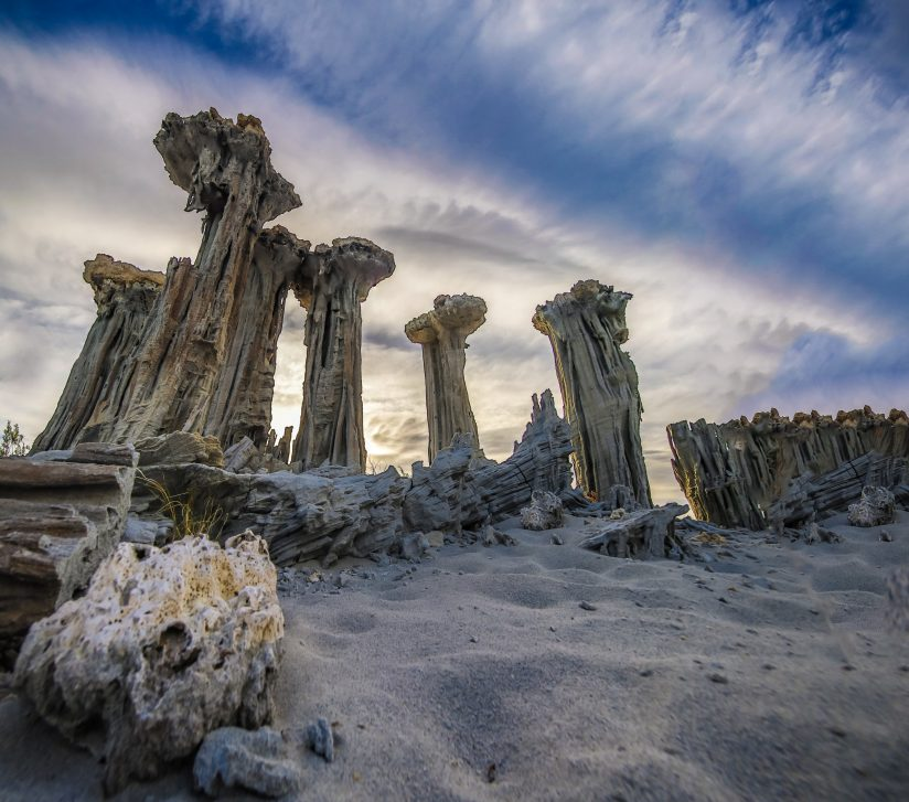Morning Clouds Over The Tufa Towers of Mono Lake