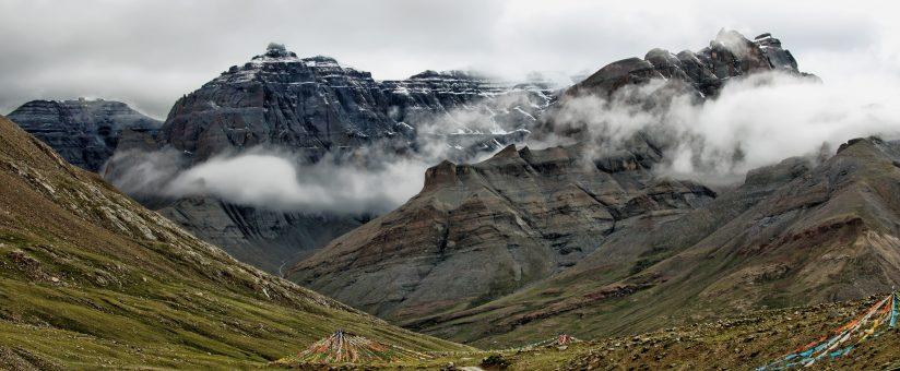 A view on the trek around Mt. Kailas