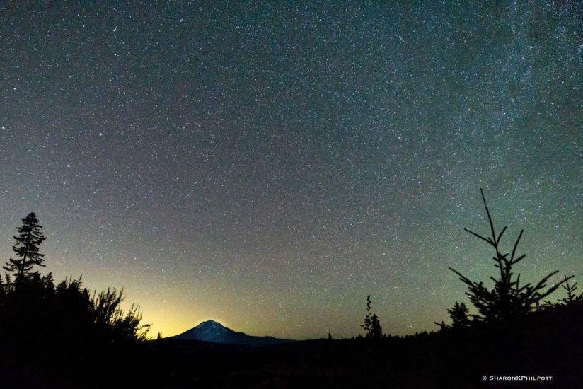 Mt Adams and Night Skies