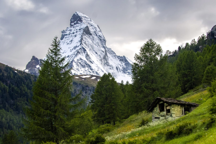 Matterhorn and Slate Roof Cabin