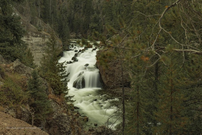 Fire Hole River Falls in Yellowstone National Park