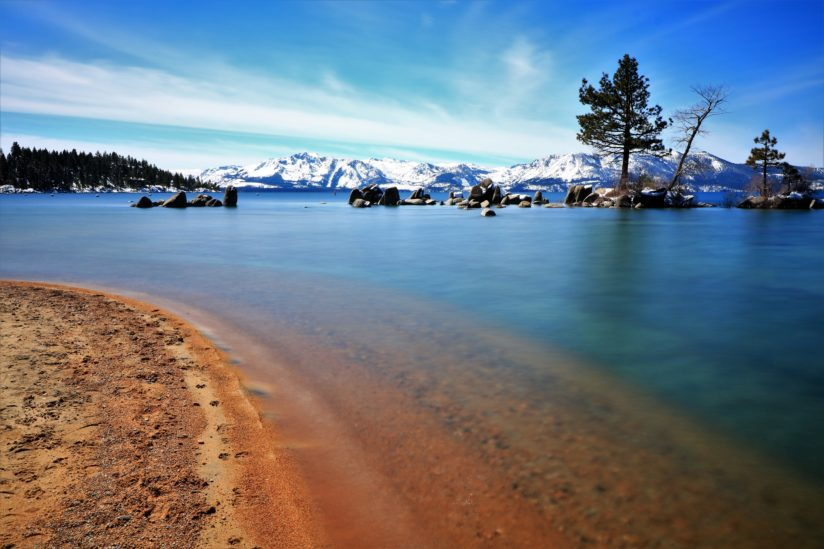 Lake Tahoe in March