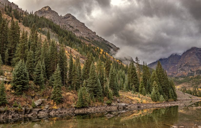 Maroon Bells in the storm